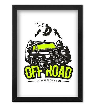 Poster com Moldura Off Road Adventure Time