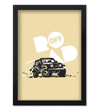 Poster com Moldura Off Road Cream