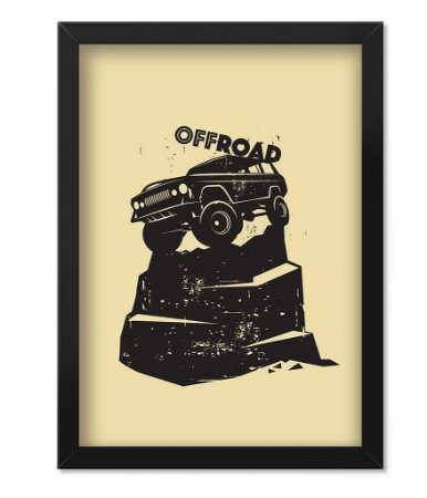Poster com Moldura Off Road Cream II