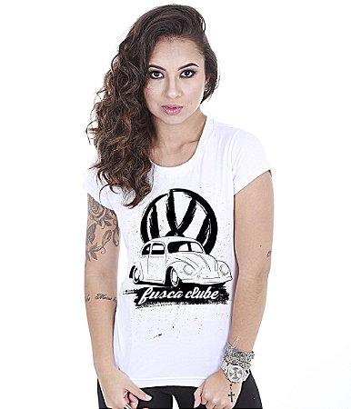Camiseta Old Cars Baby Look Feminina Fusca Clube