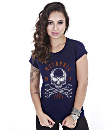 Camiseta Old Cars Baby Look Feminina Mechanic