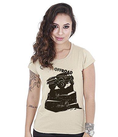 Camiseta Off Road Baby Look Feminina Jeep