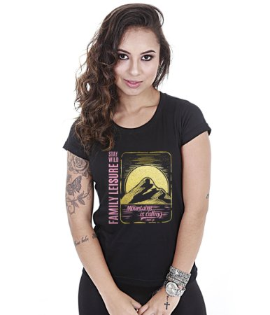 Camiseta Outdoor Baby Look Feminina Life Sure