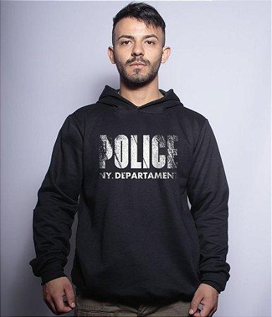 Casaco Militar Com Capuz Police