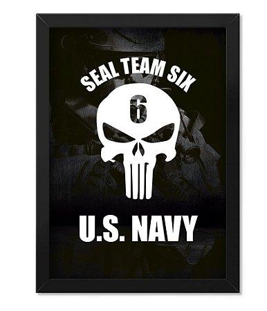 Poster Militar com Moldura The Punisher Seal Team