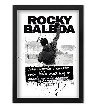 Poster Militar com Moldura Rocky Balboa
