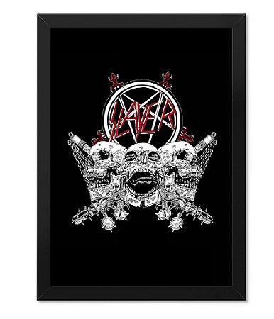 Poster com Moldura Banda Slayer
