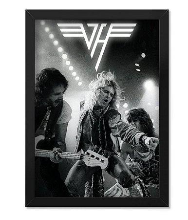Poster com Moldura Banda Van Halen