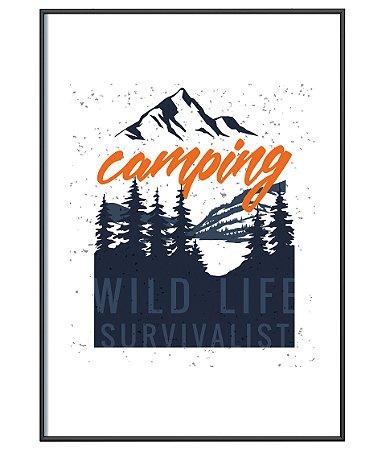 Poster Minimalista Outdoor Camping Wild Life Survivalist