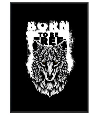 Poster Minimalista Outdoor Born To Be Free