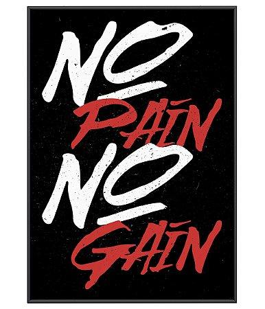 Poster Academia No Pain No Gain Simple