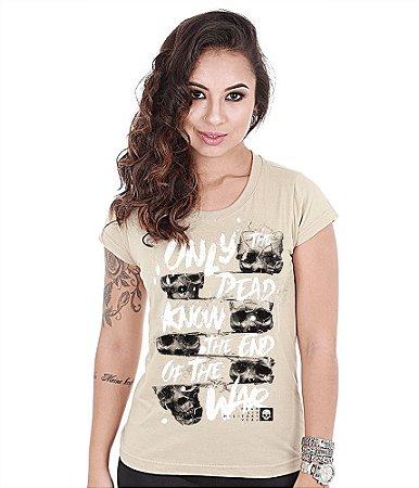 Camiseta Militar Baby Look Feminina Only the Dead