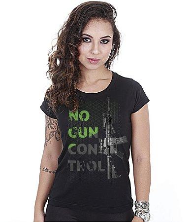 Camiseta Baby Look Feminina Squad T6 Magnata No Gun Control