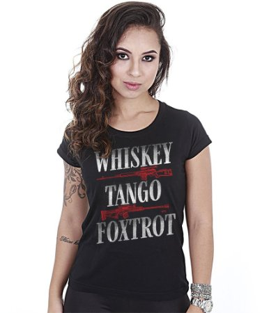 Camiseta Baby Look Feminina Squad T6 Instrutor Fritz Whiskey Tango Foxtrot