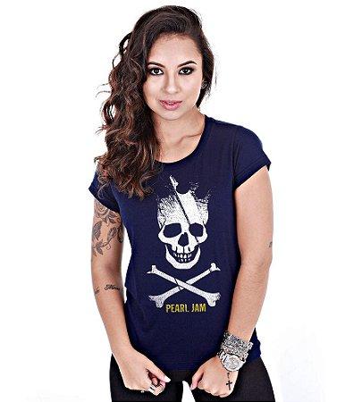 Camiseta Baby Look Feminina Banda de Rock Pearl Jam