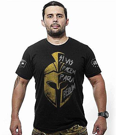 Camiseta Militar Masculina Si Vis Pacem Para Bellum Sparta