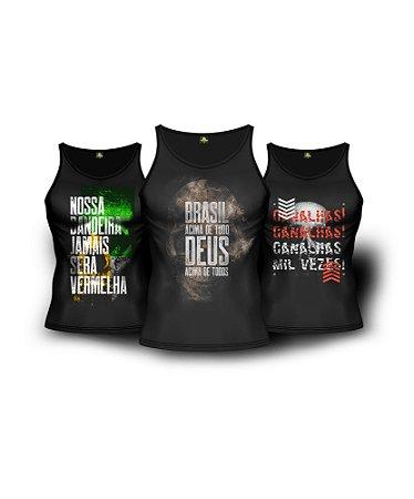 c01443908e Kit 3 Regatas Militares Brasil Acima de Tudo - Camisetas Militares ...