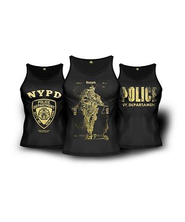 Kit 3 Regatas Militares NYPD