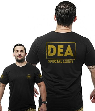 Camiseta Militar Wide Back DEA Narcóticos