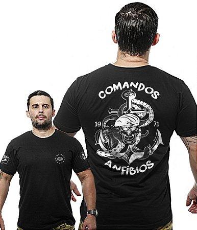 Camiseta Militar Wide Back Comandos Anfibios