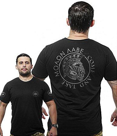 Camiseta Militar Wide Back Molon Labe Come And Take