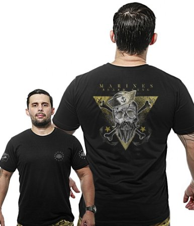 Camiseta Militar Wide Back Marines Beard Gang