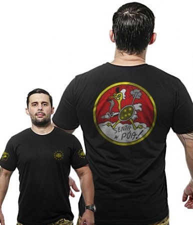 Camiseta Militar Wide Back Senta A Púa