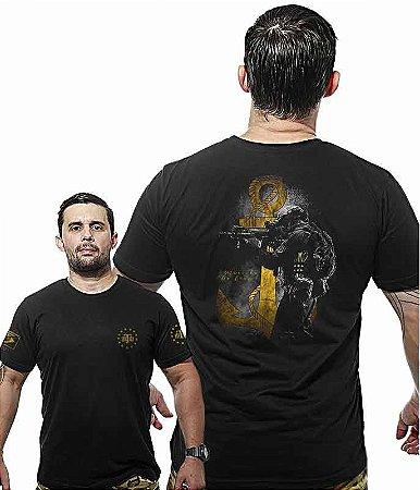 Camiseta Militar Wide Back Marinha Tactical