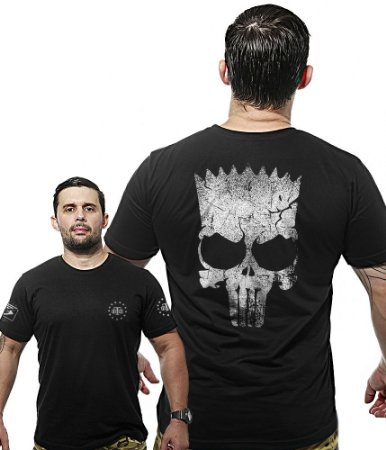 Camiseta Militar Wide Back Punisher Bart