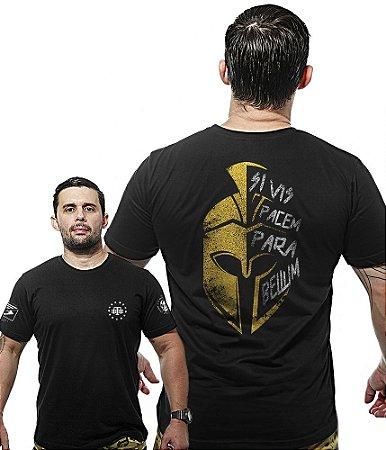 Camiseta Militar Wide Back Si Vis Pacem Para Bellum Sparta