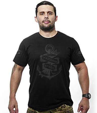 Camiseta Militar Dark Line Marinha Do Brasil