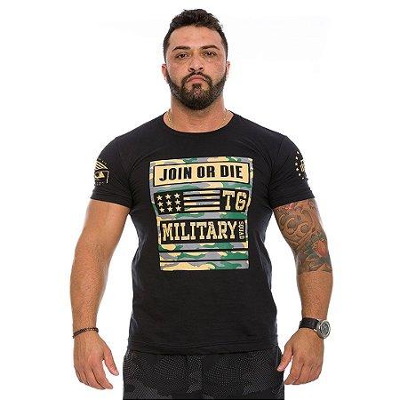 Camiseta Militar Masculina Concept Line Team Six Camu Join Or Die