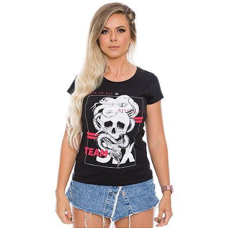 Camiseta Feminina Concept Line Baby Look Born To Kill