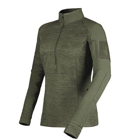 Camisa de Combate Feminina Courage Verde Oliva Invictus