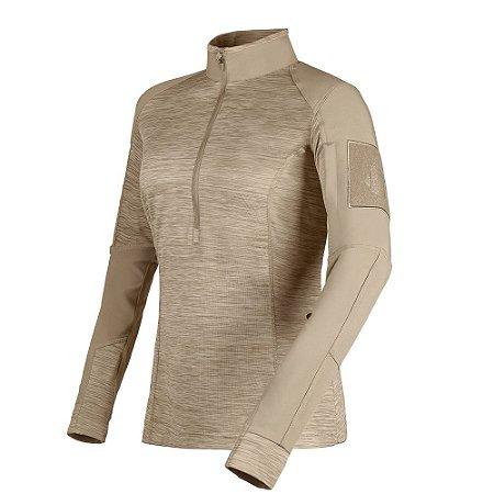 Camisa de Combate Feminina Courage Caqui Mojave Invictus