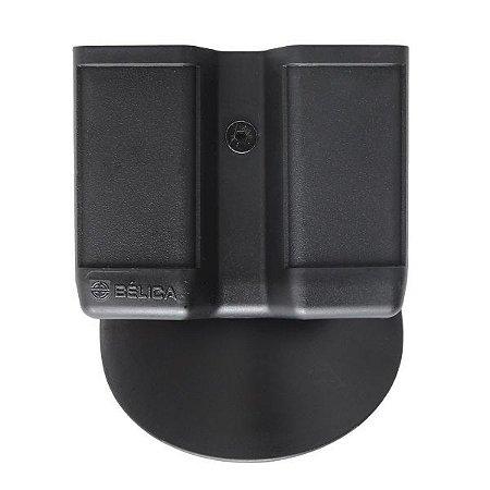 Porta Carregador Duplo Em Polímero - Paddle Bélica