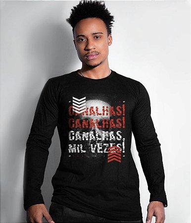 Camiseta Manga Longa Canalhas Canalhas