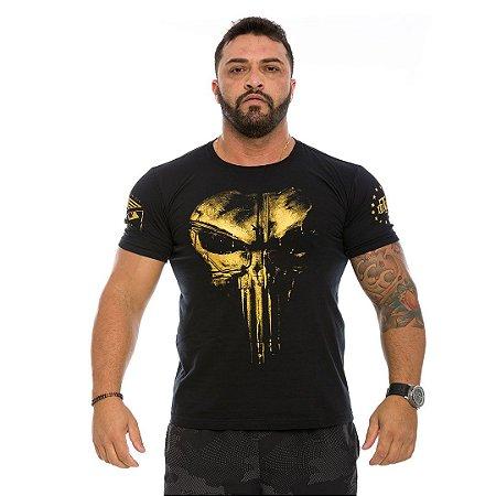 Camiseta Militar Punisher Plate Gold Line