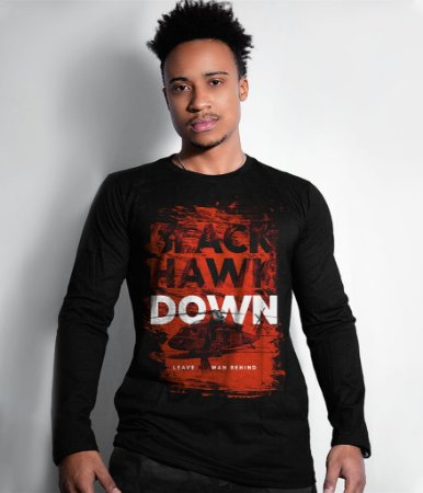 Camiseta Manga Longa Black Hawk Down