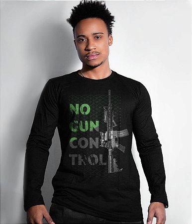 Camiseta Manga Longa Magnata No Gun Control