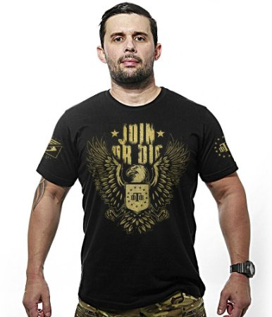 Camiseta Militar Gold Concept Line Team Six Join Or Die