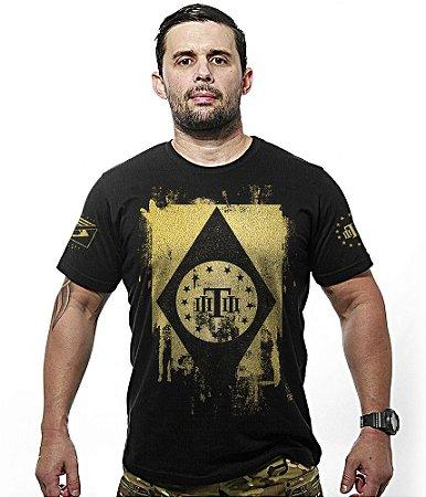 Camiseta Militar Gold Concept Line Team Six Tactical Flag Brasil