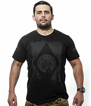 Camiseta Militar Dark Concept Line Team Six Tactical Flag Brasil