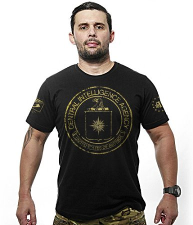 Camiseta Militar Central Intelligence Agency Gold Line