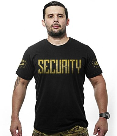 Camiseta Militar Security Gold Line