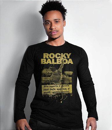 Camiseta Manga Longa Rocky Balboa Gold Line