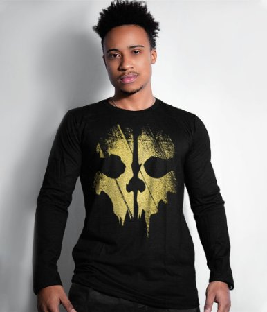Camiseta Manga Longa GHOSTS Gold Line