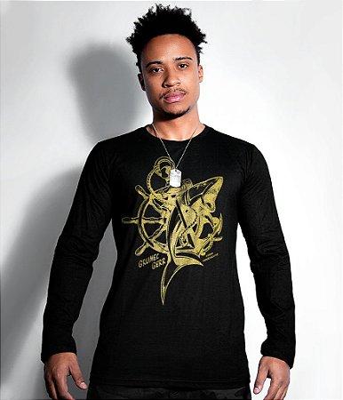 Camiseta Grumec Gola Manga Longa Gold Line