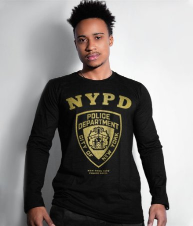 Camiseta Manga Longa Police Department NYPD Gold Line