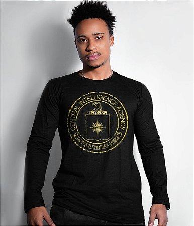 Camiseta Manga Longa Central Intelligence Agency Gold Line